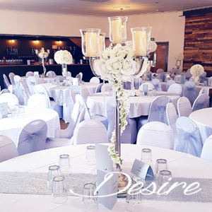 Candelabra wedding centerpiece at a wedding event