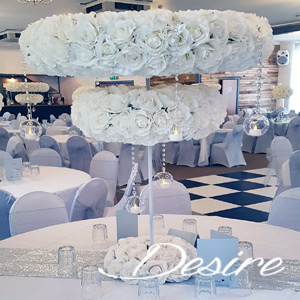 large double ring halo centerpiece